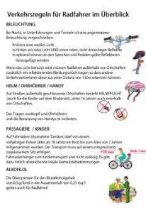Flyer Verkehrsregeln